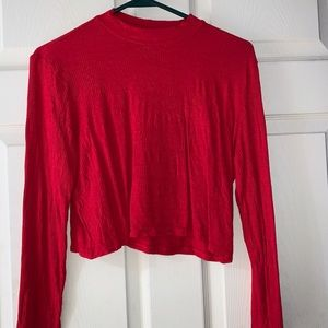 Red Divided crop top